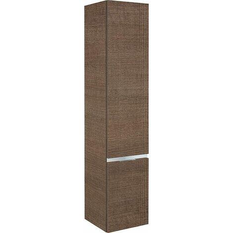 armoire haute MBH 2 portes tranche marron ,butée à droite 350x1655x370mm