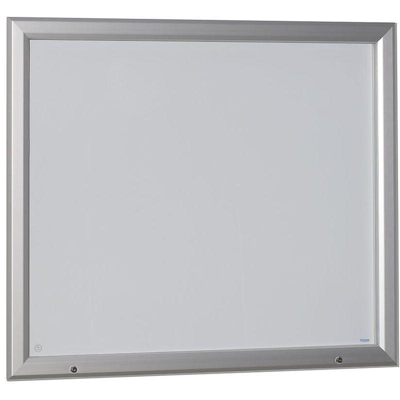 Certeo - OFFICE AKKTIV Vitrine d'affichage à cadre aluminium, pour l'intérieur et l'extérieur - avec porte ouvrant vers le haut - - Coloris panneau