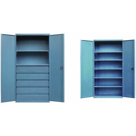 Armoire industrielle à tiroirs - étagères ou casiers Heco HE15910BL