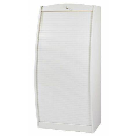 Armoire Informatique Galbée 80 cm - Coloris: Blanc