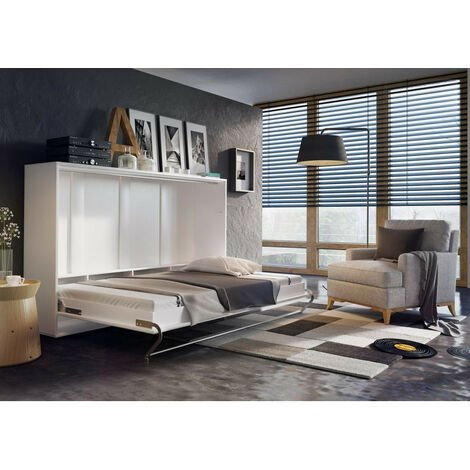 Armoire - Lit escamotable DENEB 140x200 cm - Blanc