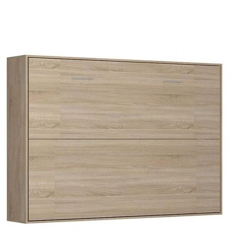 """main image of """"Armoire lit horizontale escamotable STRADA-V2 chêne couchage 140*200 cm. - natural"""""""