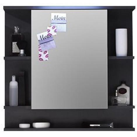 Armoire murale salle de bain avec tablette et miroir ...