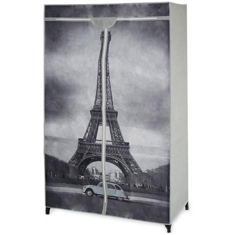 armoire pliante armoire à vêtements armoire textile - armoire à vêtements idéale pour la marchandise saisonnière et les étudiants modèle 'tour Eiffel'
