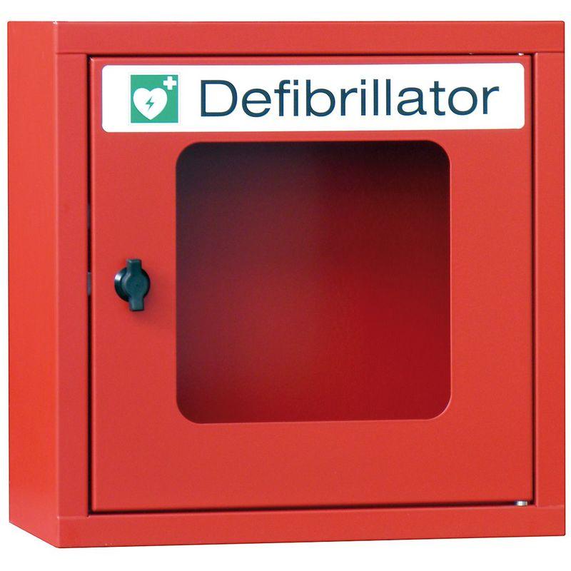 Certeo - Armoire pour défibrillateur - sans alarme - rouge feu - Coloris corps: rouge feu RAL 3000