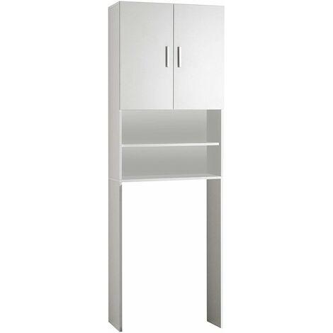 """main image of """"Armoire Rangement Meuble machine a laver toilette salle de bain 2 Portes 2 Compartiments"""""""