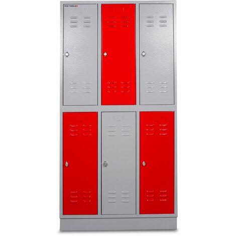 Armoire robuste à 6 casiers MW-Tools DEKLK32