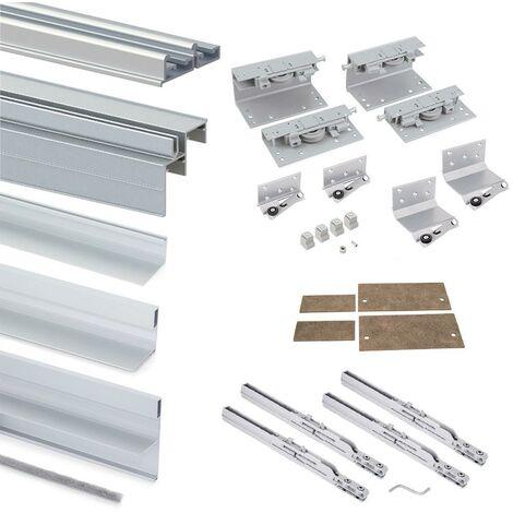 Armoire Space+ EMUCA 2 portes avec profils Free rapid et fermeture amortie - 6030020