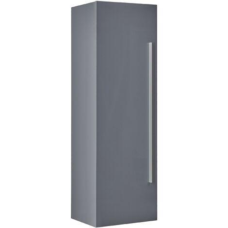 Armoire suspendue de salle de bain grise à 4 niveaux