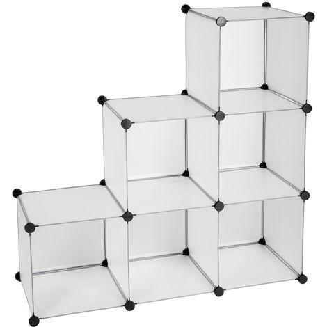Charmant Armoire Plastique De Rangement 300 Litres 6 Cubes Modulable 112 Cm X 37 Cm  X 112