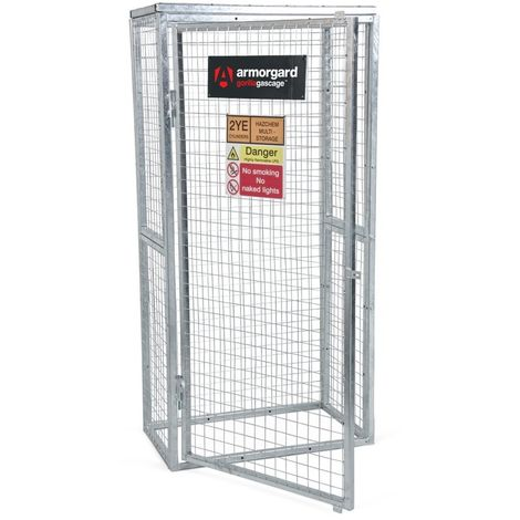Armorgard - Cage à gaz en acier galvanisé argent 900x500x1800 mm Gorilla GAS CAGE - GGC3