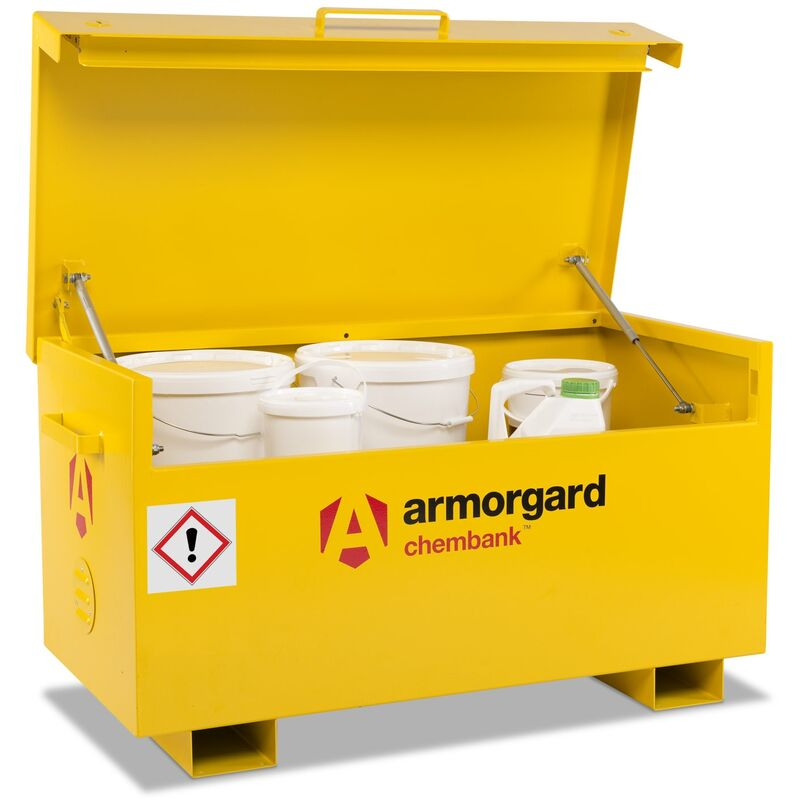 Image of Armorgard Chembank Secure Chemical Storage Box Store 1275x665x660mm