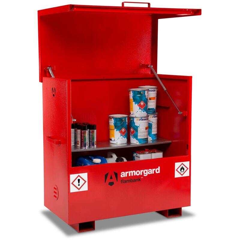 Image of Armorgard FlamBank Flammable Liquids Safe Storage Site Chest Box - 1275x675x1270mm