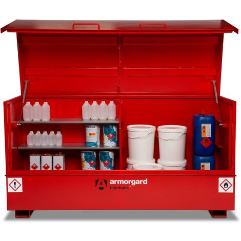 Armorgard FlamBank Flammable Liquids Safe Storage Site Chest Box - 2370x985x1220mm