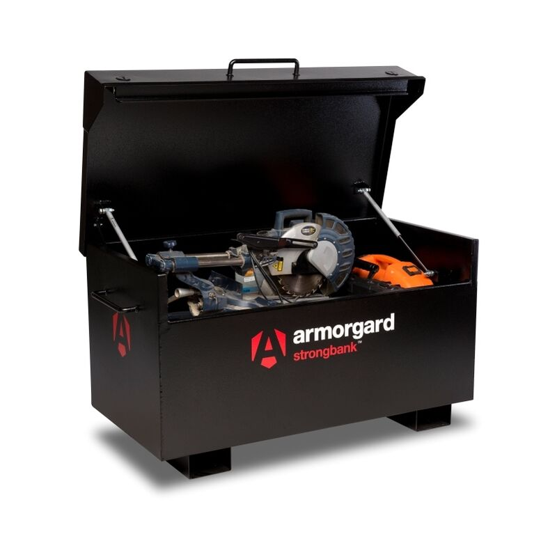 Image of Armorgard StrongBank SB2 Site Secure Box Storage Safe Store 1310x690x665mm