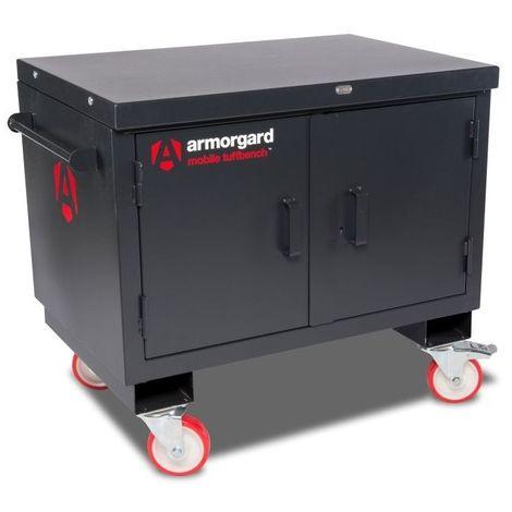 Armorgard - Table de monteur Mobile TuffBench 1120x705x920 mm charge 1000 kg serrure 5 points gris charbon - BH1270M