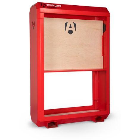 Armorgard - Tableau d'affichage InstructaHut 1235x500x1850 mm 1 étagère couleur rouge - IH4