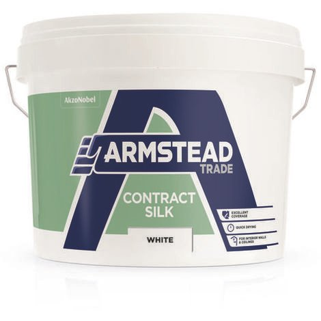 Armstead Trade Contract Silk White 10 Litres