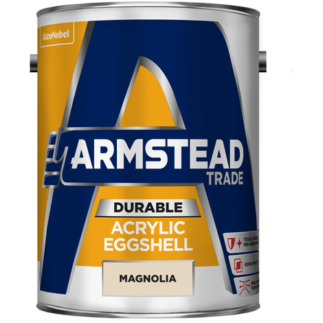 Armstead Trade Durable Acrylic Eggshell Magnolia 5 Litres