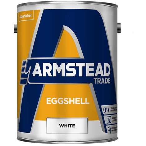 Armstead Trade Eggshell White 5 Litres