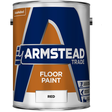 Armstead Trade Floor Paint Red 5 Litres