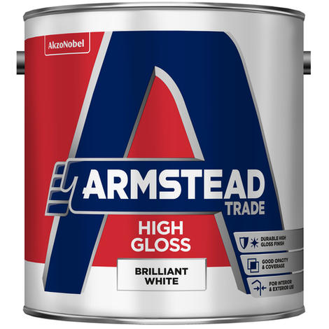 Armstead Trade High Gloss Brilliant White 2.5 Litres