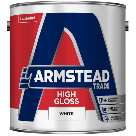 Armstead Trade High Gloss White 2.5 Litres