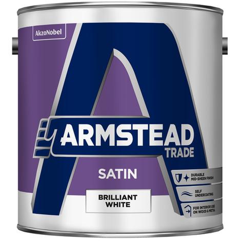 Armstead Trade Satin Finish Brilliant White 2.5 Litres
