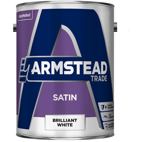 Armstead Trade Satin Finish Brilliant White 5 Litres