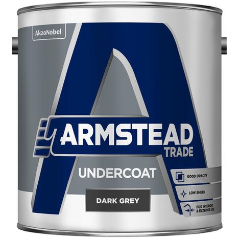 Armstead Trade Undercoat Dark Grey 1 Litre