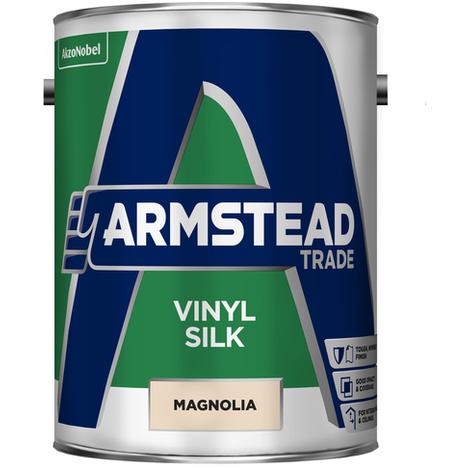 Armstead Trade Vinyl Silk Magnolia 5 Litres
