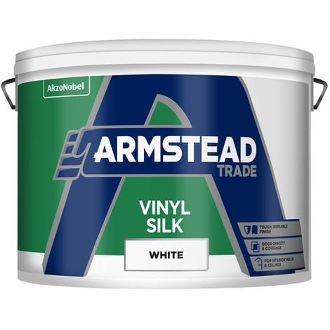 Armstead Trade Vinyl Silk White 10 Litres