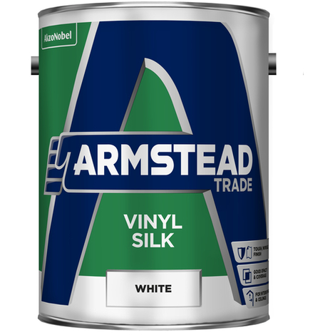 Armstead Trade Vinyl Silk White 5 Litres