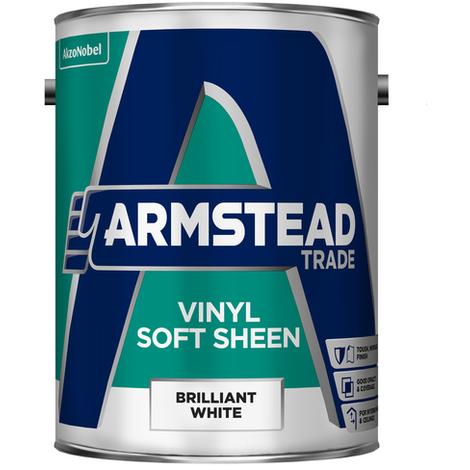 Armstead Trade Vinyl Soft Sheen Brilliant White 5 Litres