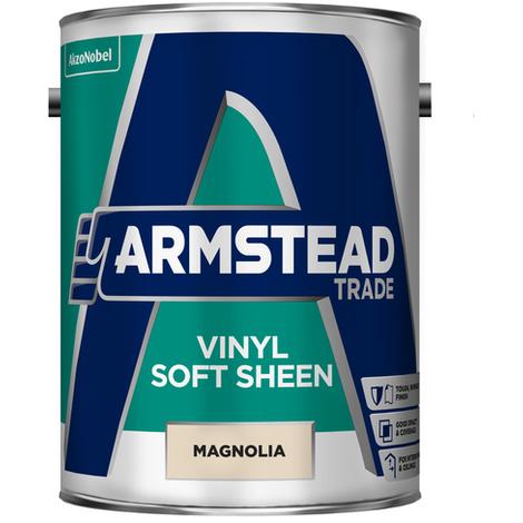 Armstead Trade Vinyl Soft Sheen Magnolia 5 Litres