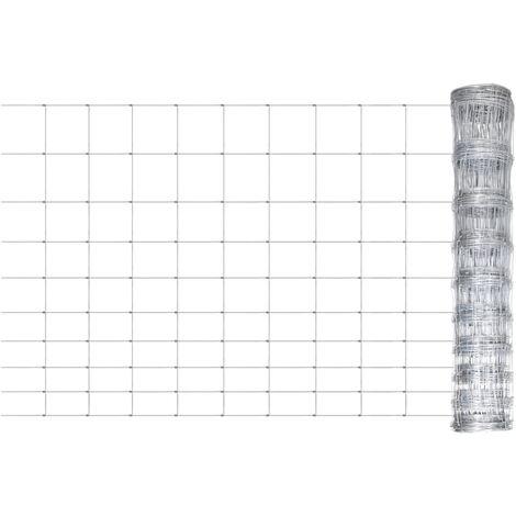 Arndt Garden Wire Fence (0.5m x 1.2m) by Dakota Fields - Silver