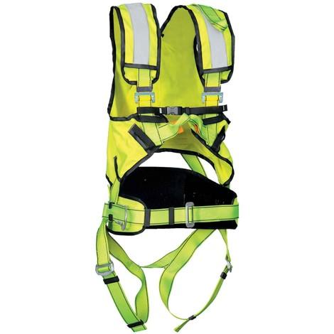 Arnés anticaídas Cinturón Alta Visibilidad P50HV+ - EN361 & EN358 | Amarillo fosforescente