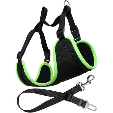 Arnés con cinturón de coche para perros ajustable Yatek, apto para la mayoría de vehículos, material resistente, disponible en varias tallas