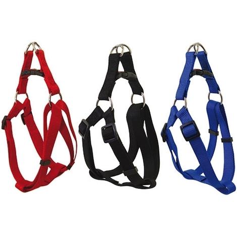 Arnes de nylon para perros con cierre de seguridad especial y fuertes anillas cromadas disponible en varias medidas y colores