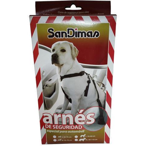 Arnes de Seguridad para Coche Ideal para Perros Pequeños Talla S. Perimetro toracico: 30-70 cm.