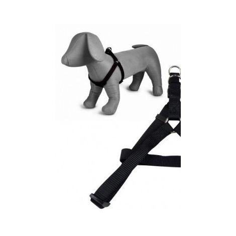Arnés nylon 20mmx46-75cm, negro