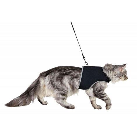Arnés suave XXL con correa para gatos.