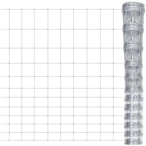 Arneson Garden Wire Fence (0.5m x 1.5m) by Dakota Fields - Silver