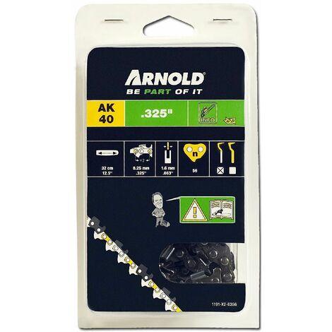 """Arnold Chaîne .325"""", 1,6mm, 56 Entr., avec element de securité, demi rond - 1191-X2-6356"""
