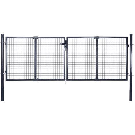 Arnone Mesh Garden 10' x 5' (3.06m x 1.5m) Metal Gate by Dakota Fields - Grey