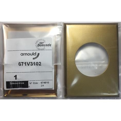 Arnould 671V3102 - Plaque de finition en or brossé - biseauté sur les côtés