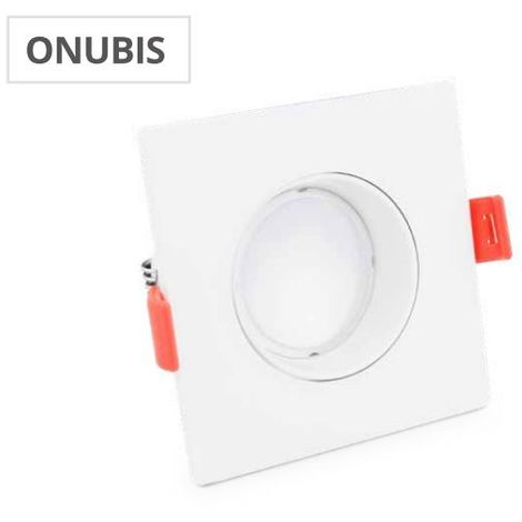 Aro cuadrado Onubis + lampara GU10 7W 3000K GSC 000704798