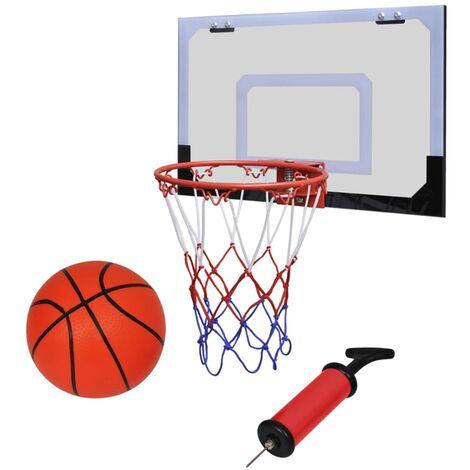 Canasta de baloncesto con pelota y bomba, altura regulable para interiores y exteriores