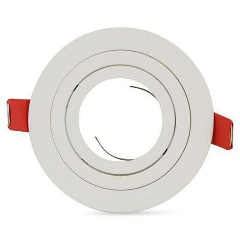 Aro downlight circular basculante PREMIUM para bombilla LED GU10