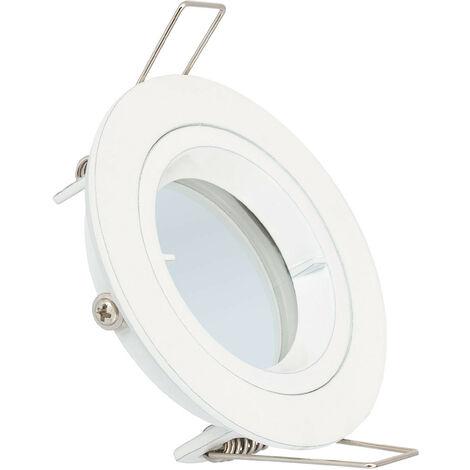 Aro Downlight Circular Blanco para Bombilla LED GU10 / GU5.3 Blanco